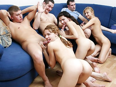Entirely mind-blowing schoolgirl soiree hook-up movie
