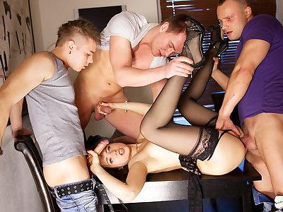 Group sex porn act for slim Taissia-Shanti
