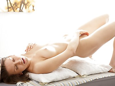 Artistic porno vid displays a cutie stroking